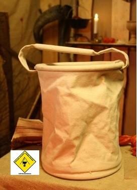Leineneimer, ca. 8 Liter