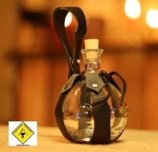 Feldflasche Glaskugel